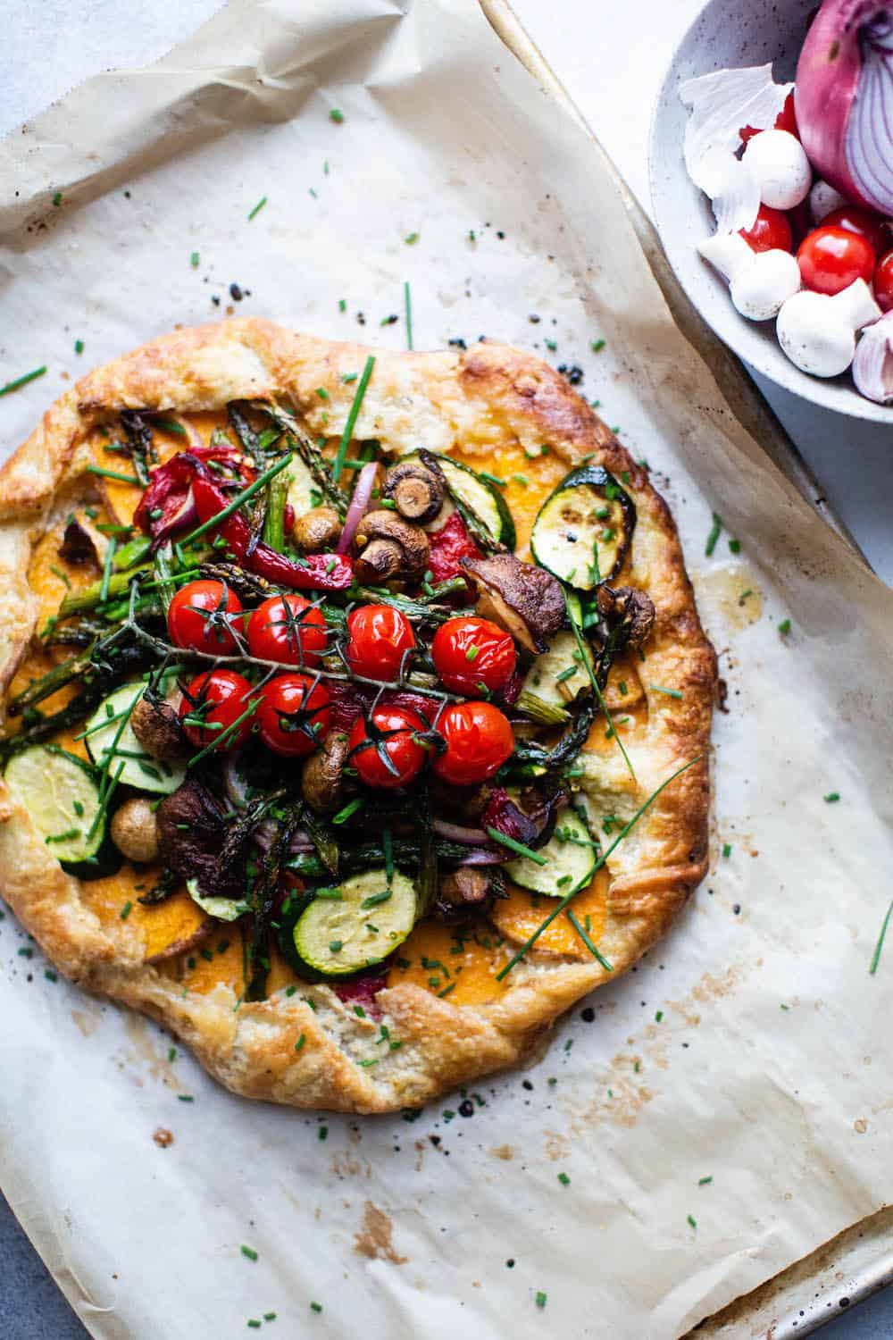 Roasted Vegetable galette diala's kitchen
