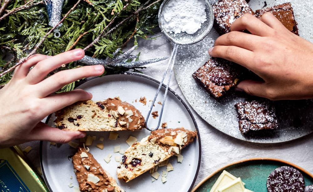 Holiday Cookie Exchange And The Best Hazelnut Brownies