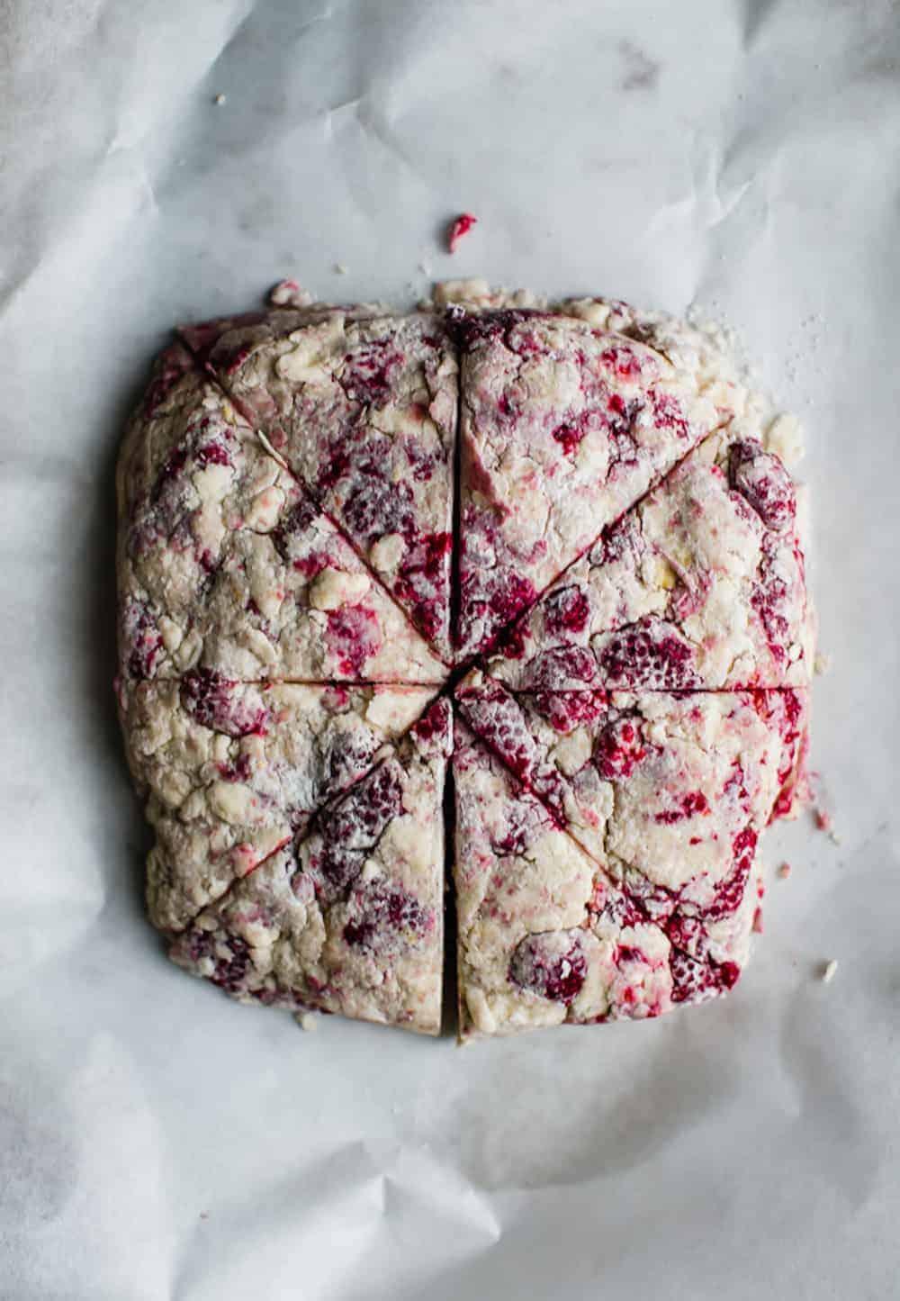 raspberry lemon and poppyseed scones dialas kitchen