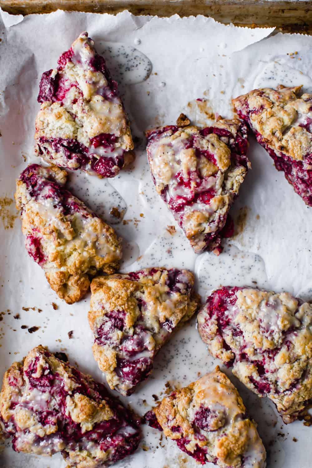 Raspberry lemon and poppyseed. scones dialas kitchen