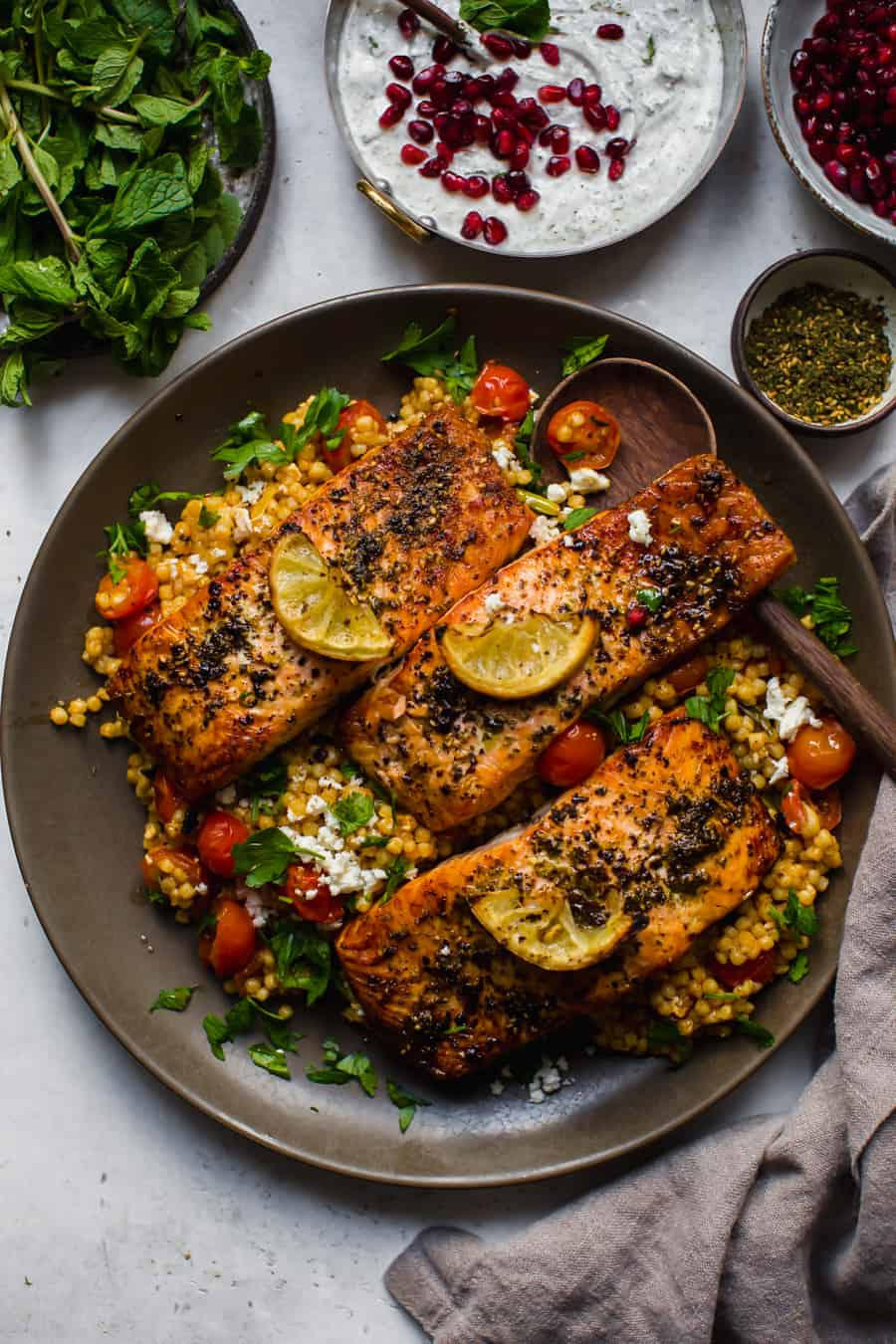 Roasted Salmon with Za'atar and Sumac